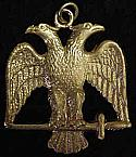 Masonic Double Eagle Watch Fob