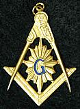 Masonic Shining Watch Fob
